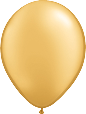 Rundballon in gold