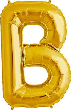 Folien Buchstabe B in gold