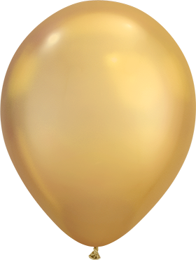 Chrome Ballon rund gold