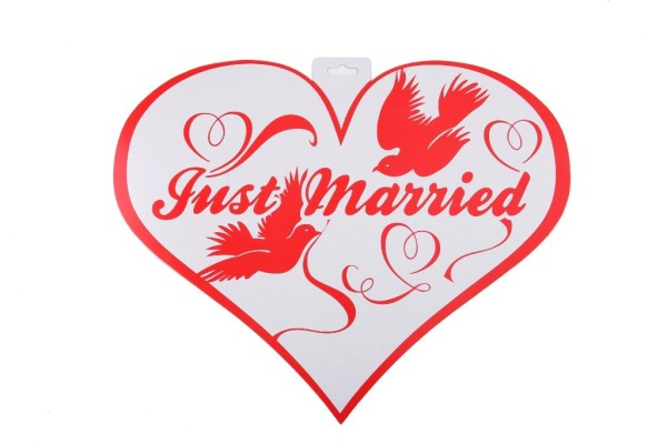 "Schild ""Just Married"""